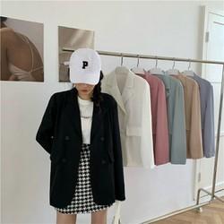 Áo khoác vest blazer mỏng 1 lớp chống nắng nhẹ mát