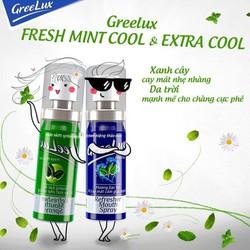 Xịt thơm miệng greelux Extra Cool Thảo Dược 12ml, Xanh dương