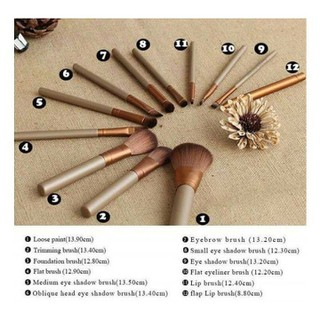 Bộ cọ trang điểm 12 món cao cấp với hộp đựng sang trọng - - Hộp cọ trang điểm thumbnail