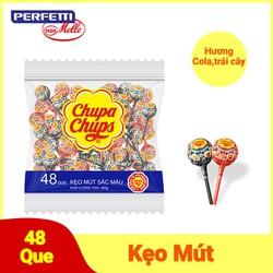 Kẹo mút Chupa Chups Tô Màu Hương Trái Cây Hỗn Hợp Tô Màu (48 Viên)