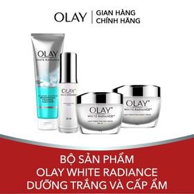 Bộ Sản Phẩm Olay White Radiance Dưỡng Trắng và Cấp Ẩm (Kem dưỡng trắng da ban ngày, Kem dưỡng trắng da ban đêm, Tinh chất dưỡng trắng da, Sữa rửa mặt) - TUOL0054CB