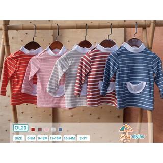 Áo dài tay cotton cổ lọ thu đông cho bé 6m-2y - Ôly styles Việt Nam