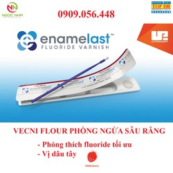Gel bôi vecni flour viền đỏ Enamelast ngừa sâu răng cho trẻ em và người lớn/ Hàng chính hãng Ultradent/Mỹ