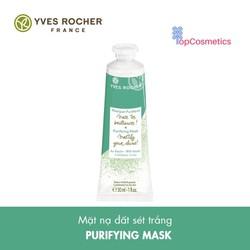 Mặt Nạ Đất Sét Trắng Yves Rocher Kiểm Soát Nhờn Se Khít Lỗ Chân Lông Purifying Mask 30ml Topcosmetics