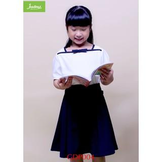 Đầm học sinh nữ cổ hải quân, đồng phục học sinh cấp 1, cấp 2, đồ đi học xinh cho bé gái GDP004