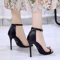 Giày cao gót – giày sandal cao gót nữ – dép / guốc cao gót nữ quai da mềm gót nhọn 7 phân cao cấp