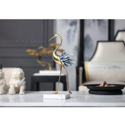 Chim hạc vàng đính đá pha lê thiết kế tinh sảo , Decor để bàn sang trọng cho nội thất cao cấp