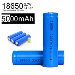 BỘ 2 Pin Sạc Được ICR 18650 5000mAh 3.7V lắp vào các thiết bị điện tử, dùng cho Box sạc, cell laptop, đèn pin, mic,đèn lazehiệu suất chuyển đổi năng lượng cao ( cao cấp )