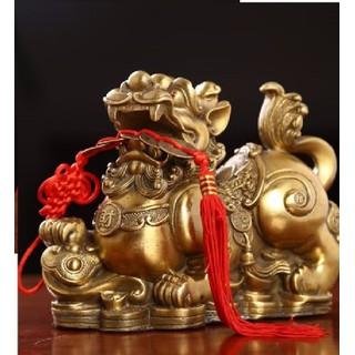 Tỳ hưu - tỳ hưu phong thủy Tượng tỳ hưu bằng đồng linh vật phong thủy thờ cúng kích thước trung - H6019 - 60019 thumbnail