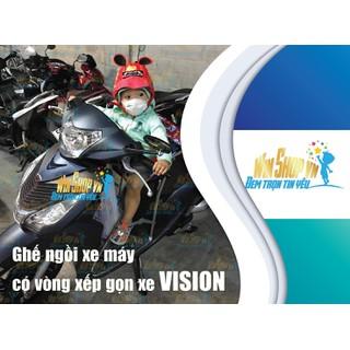 Ghế ngồi xe máy có vòng xếp gọn xe Vision - ghechobevision thumbnail
