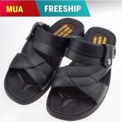 Giày Sandal nam Thời trang ngôi sao màu đen
