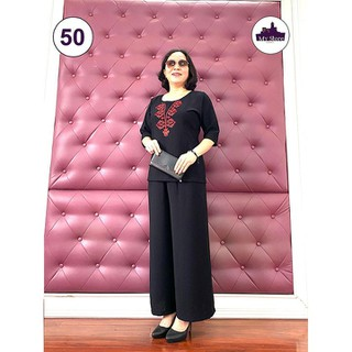 Thời Trang Trung Niên - Bộ Đũi Tay Lỡ Cao Cấp - Chất Vải Loại 1- Siêu Mềm, Siêu Mát - Laddy Store - thời trang trung niên tay lỡ đũi thumbnail