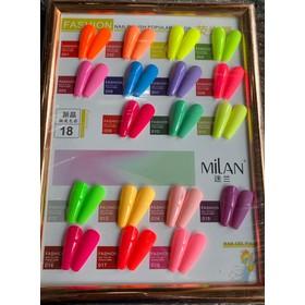 Sét Sơn Gel Màu Neon 18 Màu Trẻ Trung Xu Hướng Mới 2020 - Tặng kèm bảng màu - SonGelNeon18