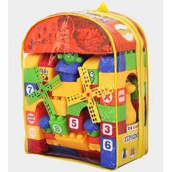 Đồ chơi lắp ráp. Túi lắp ráp size ĐẠI. Đồ chơi giúp bé phát triển trí tuệ. Sản xuất tại Việt Nam