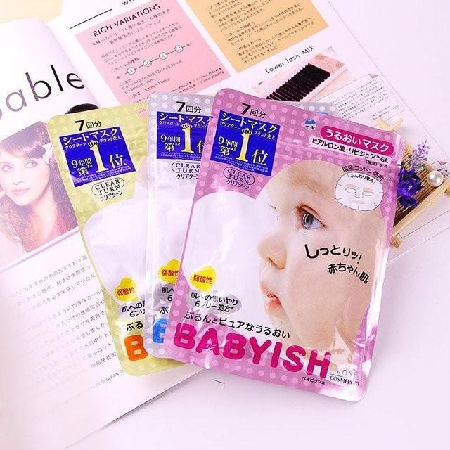 Mặt nạ Kose Babyish, mặt nạ dưỡng ẩm va làm mềm da của Nhật, mask dưỡng ẩm, làm mềm