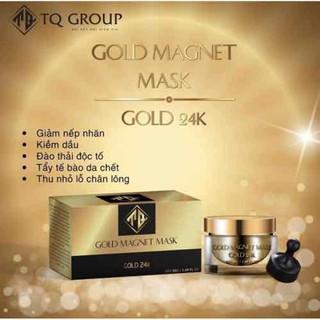 MẶT NẠ VÀNG 24K Gold Magnet mask TQ GROUP - mặt nạ từ tính TẶNG NAM CHÂM + CAO MỤN SÂM VÀNG - 764216 thumbnail