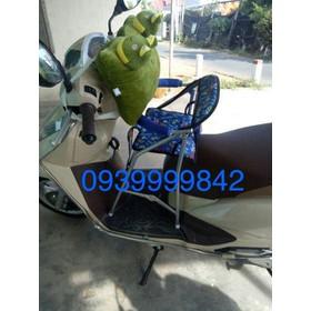 Ghế ngồi xe máy có vòng bảo vệ xếp gọn xe LEAD - ghế ngồi xe ga LEAD