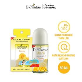 Enchanteur - Lăn khử mùi hương nước hoa Charming 50 ml + Tặng nước hoa bỏ túi 18 ml - Enchanteur - Lăn khử mùi hương nước hoa Charm