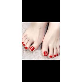 Móng chân giả - đỏ đá 1