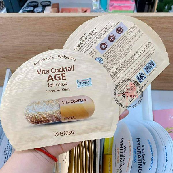 MẶT NẠ VÀNG BNBG VITA COCKTAIL AGE FOIL MASK