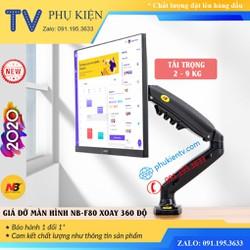 [ PHIÊN BẢN 2020 ] Giá treo màn hình máy tính NB F80 17 - 27 inch - Xoay 360 độ - Arm Monitor