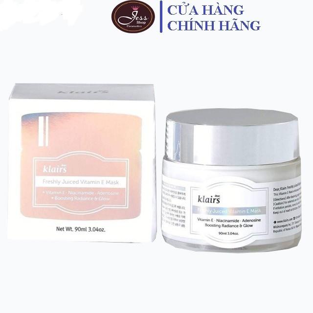 Mặt Nạ Ngủ Dưỡng Ẩm Klairs Freshly Juiced Vitamin E Mask 90ml