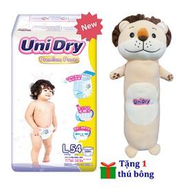 [Tặng gối ôm hình sư tử] Tã quần Unidry Premium size M60 - size L54 - size XL48 - R18