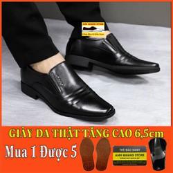 Giày Da Bò Giày Tây Nam Tăng Chiều Cao Tới 6 5Cm Chất Liệu Da Bò Cao Cấp Phong Cách Lịch Lãm Gt336