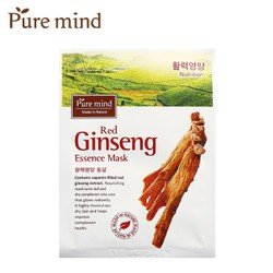HỘP 10 MIẾNG MẶT NẠ HỒNG SÂM RED GINSENG ESSENCE MASK PURE MIND