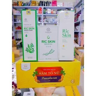 [Chính Hãng] Sâm Tố Nữ Puecolazen & Combo Ric Skin - Sữa Rửa Mặt, Serum Ha+ & Sữa Tắm Trắng thumbnail