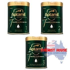 [ Hàng Chuẩn ÚC ] Sữa bột Aptamil Essensis 1-2-3 900g cho bé - Aptamil Essensis Organic A2 1-2-3 900g