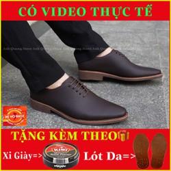 Giày Da Bò Giày Tây Nam Cao Cấp Gt886 Da Bò Nhập Khẩu Nguyên Tấm Phong Cách Dây Buộc Lịch Lãm Bảo Hành 1 Năm