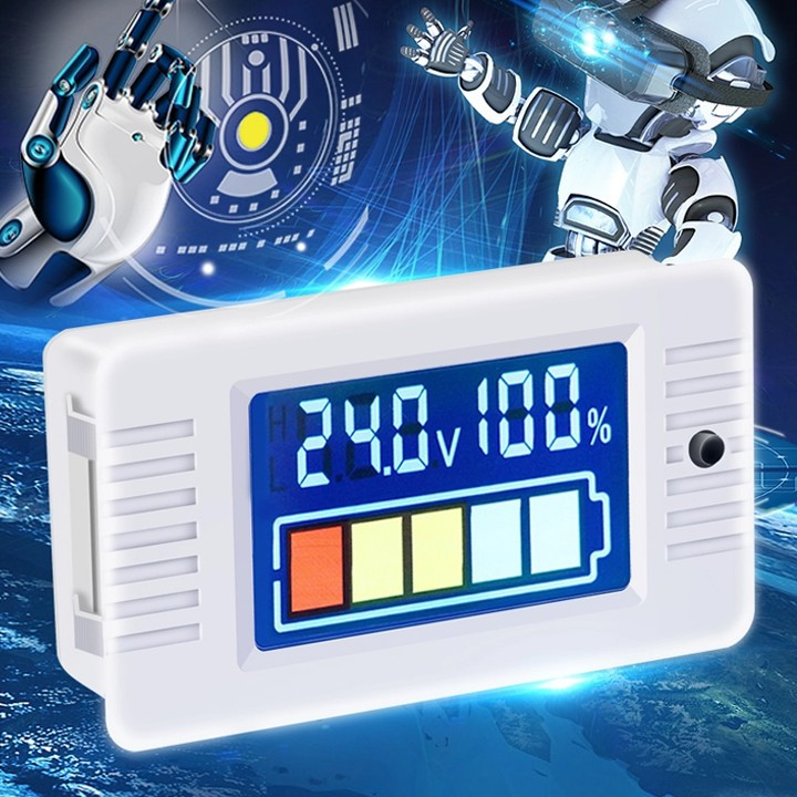 Máy kiểm tra nguồn Pin Peacefair 0 ~ 100V
