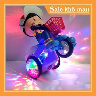 Đồ chơi bé đi xe đạp phát nhạc - Xe đồ chơi cho bé xoay 360 độ có nhạc và đèn - Xe đồ chơi xoay 360 độ thumbnail