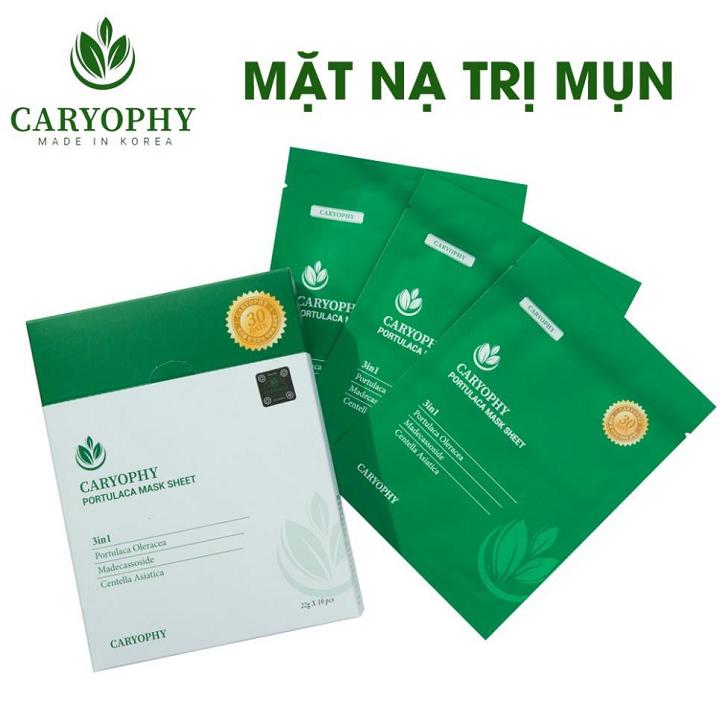 Mặt nạ trị mụn Caryophy Portulaca Mask Sheet 3 In 1 22g