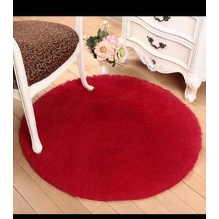 Thảm tròn trang trí phòng khách đường kính 100cm, thảm lông mềm - ma HN095150 thumbnail