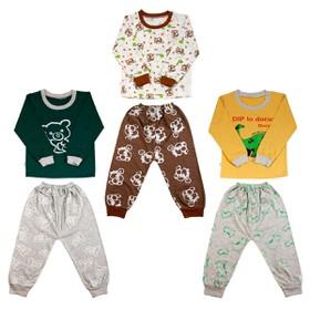 Set gồm 3 Bộ quần áo dài tay cotton thu đông cho bé trai từ 6-15kg 3BCT18KF ( ảnh thật )( bộ quần áo thu đông , bộ quần áo dài tay ) - 3BCT18KF