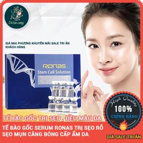 1 hộp 10 lọ tế bào gốc Serum trị sẹo rỗ sẹo mụn căng bóng da ronas - ronas1hop10lo