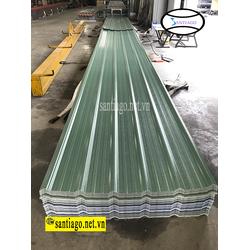 Tôn nhựa 4 lớp asa/pvc 6 sóng vuông dày 2.5mm màu xanh ngọc - Santiago