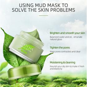 Mặt Nạ Bùn Trà Xanh Laikou Matcha Mud Mask 5 Tác Dụng 85g - EE1