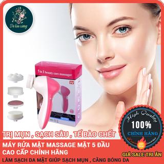 Máy rửa mặt mini cầm tay - máy rửa mặt massage 5 trong 1 [hàng chuẩn loại 1] - mayruamatsachsau thumbnail