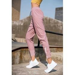 quần thể thao nữ Jogger dù pha thun có khóa kéo ở chân siêu hot, đồ tập yoga cho người mập giá rẻ-CR020