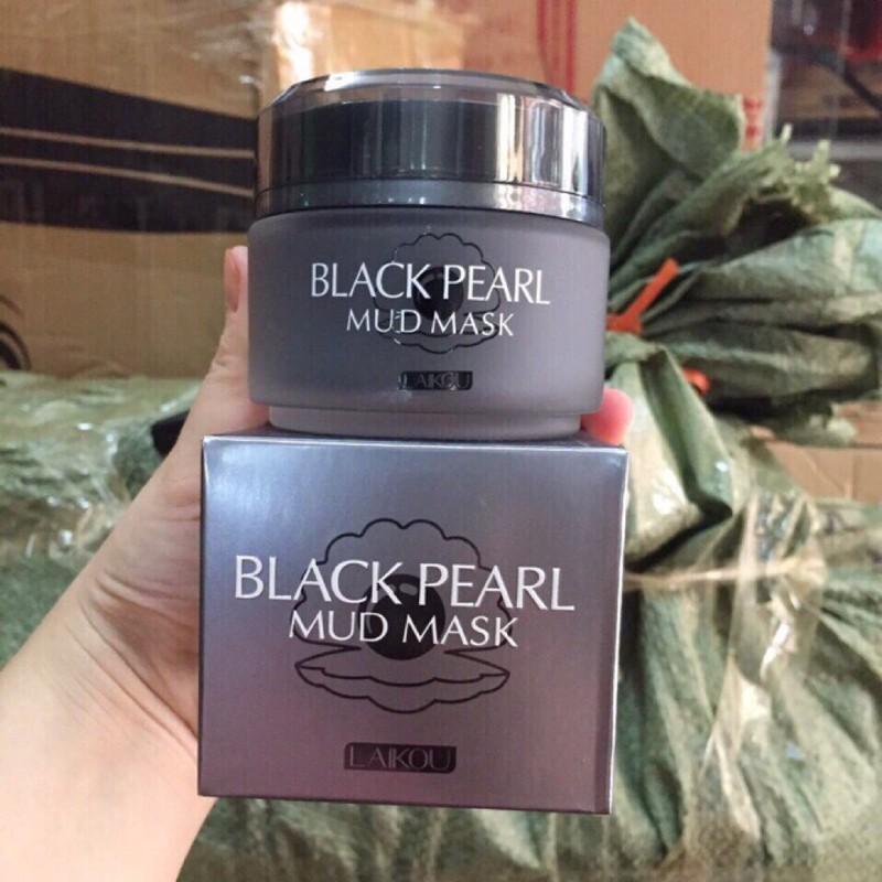 Mặt nạ bùn đất sét Ngọc trai đen LaiKou Black Peal Mud Mask