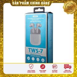 Tai Nghe Bluetooth True Wireless Remax Tws 7 Kèm Dock Sạc Có Thể Kết Nối Từng Tai Riêng Lẻ
