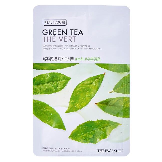 Mặt nạ trà xanh Real Nature Mask Green Tea