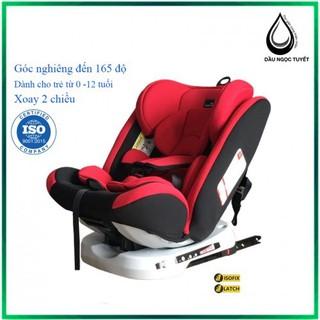 Ghế ngồi ô tô 2 chiều, điều chỉnh 4 tư thế từ nằm tới ngồi, CHUẨN ISO 9001 và có thể điều chỉnh độ cao 7 cấp cho bé từ 0-12 tuổi (đen) - goto thumbnail