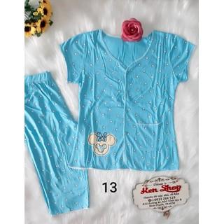 Đồ bộ cotton nữ quần lửng có túi - ẢNH THẬT - CHO KIỂM HÀNG - 012 thumbnail