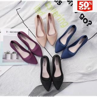 Giày Nhựa Đi Mưa Thanh Lý 4 màu form nhỏ lấy tăng lên 1sZ - Giày nhựa dẻo đi mưa 4 màu thumbnail