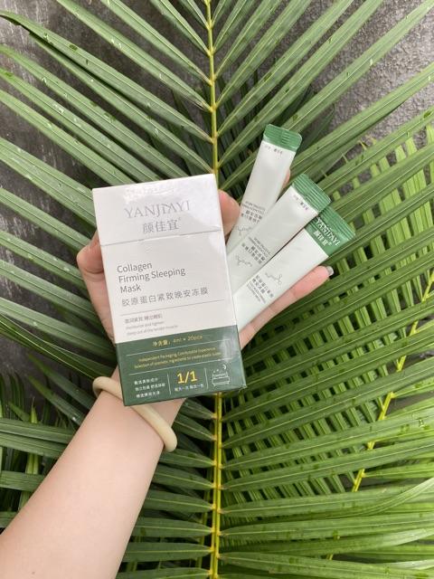 Mặt Nạ Ngủ Thạch Collagen Yanjiayi Nâng Cơ Mặt Bổ Sung Collagen