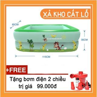 Bể bơi 1m2 - Bể bơi cho trẻ em - Bể tắm - bể bơi phao trẻ em. - BB1M2 -1 thumbnail